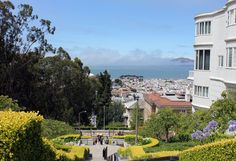 Pacific Heights District with the Presideo wall on the left.