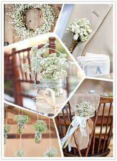 My favorite ways to incorporate beautiful and inexpensive baby's breath into your big day.