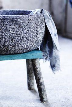 woven cloth basket