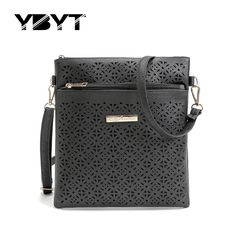 YBYT brand 2017 new PU leather women hollow out flap vintage package simple casual bag ladies shoulder messenger crossbody bags