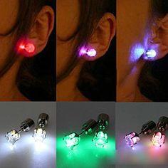 Light-up earrings suggested by Rainbow Wafflez on MTB33 (Amazon)