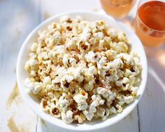 Garlic and Parmesan Popcorn Recipe (Healthy Summer Snack! Less than 500 Calories)