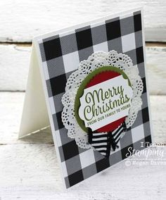 Stampin' Up! Cards | Card Making Ideas | Handmade Greeting Cards | Paper Crafts | Holiday Paper Crafts | Masculine Cards | Cards for Men | Simple Cards | Christmas Cards Handmade | There's something about a flannel-y plaid when the weather turns cooler so what's better than some plaid Christmas cards?