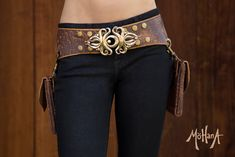 Mohana Leather Pocket Belt Bag  Speckled Brown by MohanaDesigns, $325.00