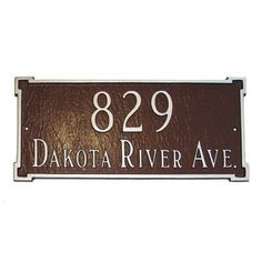 Montague Metal Products New Yorker Standard Address Plaque Finish: Black / Silver, Mounting: Wall