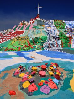 Salvation Mountain and it's Cross