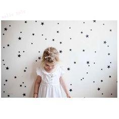 דפוס כוכבי זהב ויניל וול ארט מדבקות לקישוט חדר מדבקות קיר לחדרי ילדים עיצוב בית ב- סדרה זו היא תוכננה במיוחד כדי לייצא אירופה ובארצות הברית (בסגנון האמריקאי & Europ),אלא גם הבחירה של ebay/אמזו מתוך מדבקות קיר באתר AliExpress.com   Alibaba Group