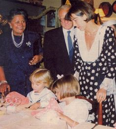 Fernanda & Giancarlo Casiraghi with Princess Caroline, Charlotte and Pierre