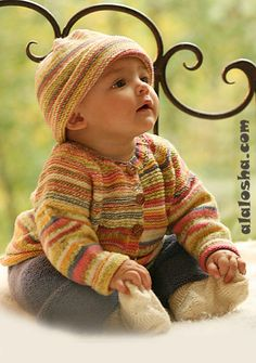 ALALOSHA: VOGUE ENFANTS: Babies in knitwear by The DROPS Philosophy