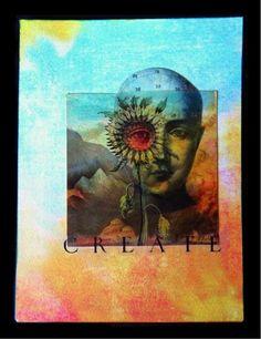 """Sun Seer"" - mixed media collage with Craft Attitude Copyright 2013 Trudi Sissons TwoDressesStudio"