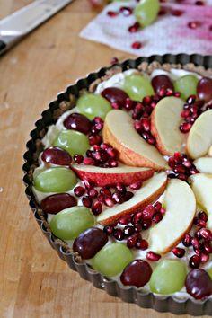 No-Bake Holiday Fruit Tart - easy to make and better than fruit cake.  #BobsHolidayCheer