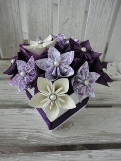 Origami carta fiore centrotavola  viola di Kusudama