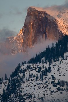 Half Dome - Yosemite, CA. I've been there and though this photo is gorgeous, it doesn't do it's magnificence justice. :)