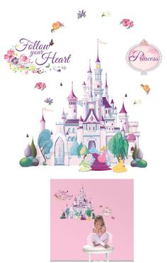 Princess Castle Disney Mini Mural - Wall Sticker Outlet