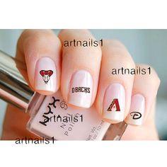 Az Arizona Diamondbacks Baseball Game Nail Art Nails by artnails1