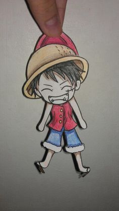 Luffy one piece paper child