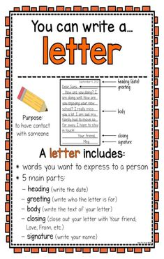 Writing Center Posters and Writing Paper Templates Letter Writing For Kids, Letter Writing Template, Letters For Kids, Writing Posters, Writing Anchor Charts, Kindergarten Writing, Teaching Writing, Prek Literacy, Daycare Curriculum