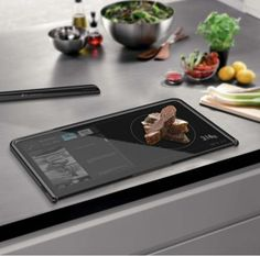 """Digital cutting board: """"It not only serves as a cutting surface, but it also displays recipes, weighs ingredients and lets you know if it has been properly sterilised to avoid any cross-contamination."""""""