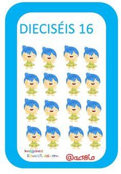 Tarjetas de Números Inside Out 1-20 (16) Baby, Preschool Printables, Preschool Math Activities, Baby Humor, Infant, Babies, Babys