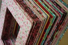 FABRIC COVERED MAT- HOW TO  (use cereal boxes in place of a photo pat or mat board)