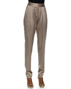 Tapered+Pleated+Pants,+Bison+by+Michael+Kors+at+Neiman+Marcus+Last+Call.