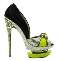 Gianmarco Lorenzi #green #shoes #heels