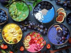 Terrific Pic That& a colorful smoothie bowl picture! Ideas Smoothie Recipes tasty and healthy… There are therefore several recipes floating on the interne Fruit Smoothies, Healthy Smoothies, Smoothie Recipes, Healthy Detox, Cute Food, Yummy Food, Smoothie Bol, Food Goals, Aesthetic Food