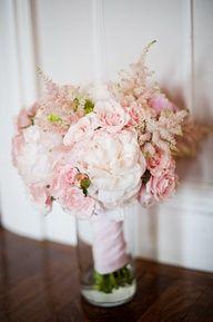 Blush Pink Wedding Flower Bouquet.
