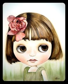 Tori-Rose by Claudia tremblay Amazing Drawings, Love Drawings, Amazing Art, Art Drawings, Claudia Tremblay, Art Fantaisiste, Doll Painting, Art Journal Inspiration, Whimsical Art