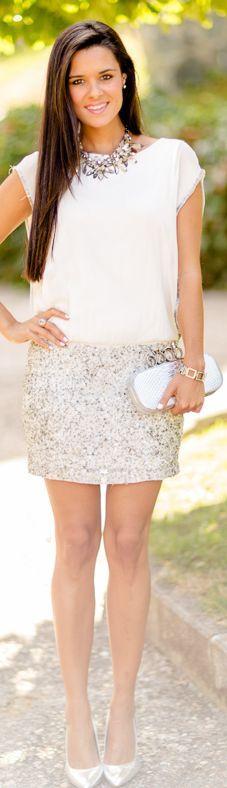 Silver Dress by Crimenes De La Moda