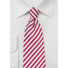 Striped Mens Tie in Cardinal Red Orange Tie, Yellow Ties, Blue Ties, Summer Stripes, Wide Stripes, Green Stripes, Suit Men, Mens Suits, Polka Dot Tie