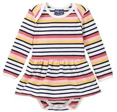 0dbc9dd024 Toobydoo Suunto Striped Ballerina Bodysuit (Baby Girls)  babygirl
