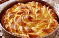 Decorative bread, with ricotta. (in Croatian) Healthy Snaks, Baking Recipes, Snack Recipes, Greek Sweets, Cheese Pies, Savory Tart, Mediterranean Dishes, Bread And Pastries, Special Recipes