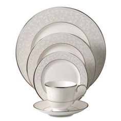 Oh this may be my fav!  Lenox® Opal Innocence™ Dinnerware Collection - BedBathandBeyond.com