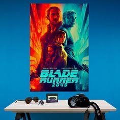 Póster adhesivo Blade Runner 2049 - VINILOS DECORATIVOS Blues Brothers, Harrison Ford, Indiana Jones, Pulp Fiction, Blade Runner, Movies, Movie Posters, Art, Tv Series