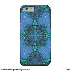 Blue abstract pattern tough iPhone 6 case