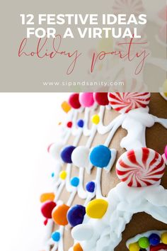 The 2020 holidays are like no other, but you can still make memories and celebrate with family and friends while social distancing. Here are tips and ideas for a super fun virtual party on Zoom, FaceTime or whatever video chat platform you use. Be a holiday party rockstar by hosting your own virtual celebration. #virtualparty #holidayparty #virtualpartytips #holidaypartytips #virtualpartyideas #holidaypartyideas #socialdistancedholidays #socialdistancedchristmas