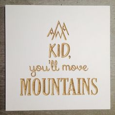 Your Daily Bread Co | 'Move Mountains' Plaque