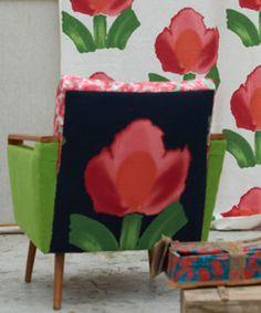 Tissu Large Flower Designers Guild