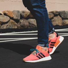 92b00416ff49b9 Adidas NMD R2 Summer CQ3081 Men s Sneaker in Orange and White