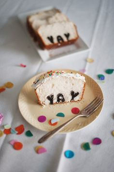 a cake with a hidden message! yum :)