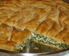 Byrek is a salted pie wich made of cheese and spinach
