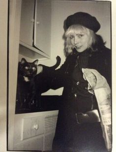 Deborah Harry, punk pioneer, 80's pop icon and cat lover.