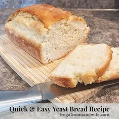 Frugal Mom and Wife: Quick and Easy Yeast Bread Recipe!