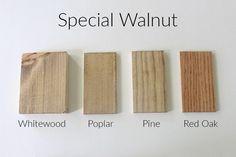 How 10 Different Stains Look on Different Pieces of Wood - Within the Grove Stain On Pine, Oak Stain, Grey Stain, Walnut Stain, Walnut Wood, Floor Stain, Wood Floor, Wood Stain Colors, Paint Colors
