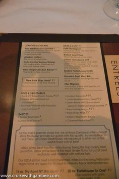 Royal Caribbean Beer Prices  Awesomeness  Pinterest  Caribbean Mesmerizing Allure Of The Seas Main Dining Room Menu Inspiration