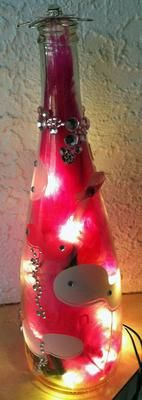 Recycled Wine Bottle Crafts-there's three other ones on this link that are super cute!