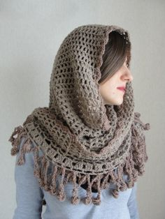 Brown Shawl-Turkish Hand Knit Light Brown Trends,Spring and Fashion,Cotton Crocket Shawl,Fringed Shawl,Hand Crocket Salmon Color, Woman Face, Hand Knitting, Knit Crochet, Crafty, Sewing, Pattern, Diy, Outfits