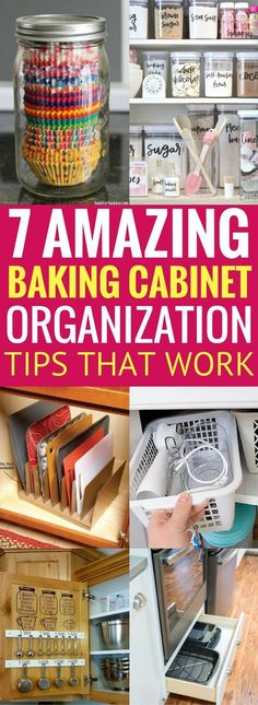 Learn how to effectively organize your baking cabinets so that you can get it in order and have more space. These organization ideas and hacks for the home will save you tons of time and money too! It worked for me, it will most likely work for you too! Baking Cabinet Organization And Storage Ideas