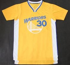 Stephen Curry Alternate Jersey Revolution 30 Swingman 30 Warriors GOLD STR SMALL
